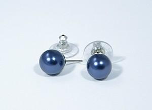 """""""Gömböcske"""" fülbevaló - kék, 10mm"""