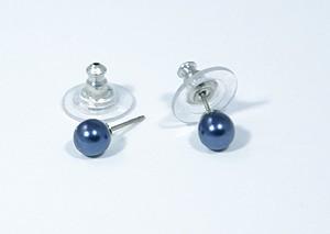 """""""Gömböcske"""" fülbevaló - kék, 6mm"""