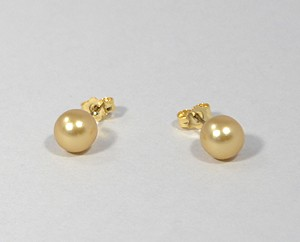 """Gömböcske"" fülbevaló - gold, 8 mm"