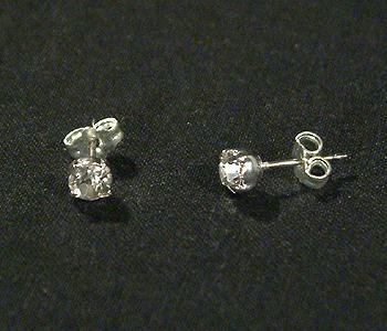 """Pötty"" fülbevaló - kristály, 5 mm"
