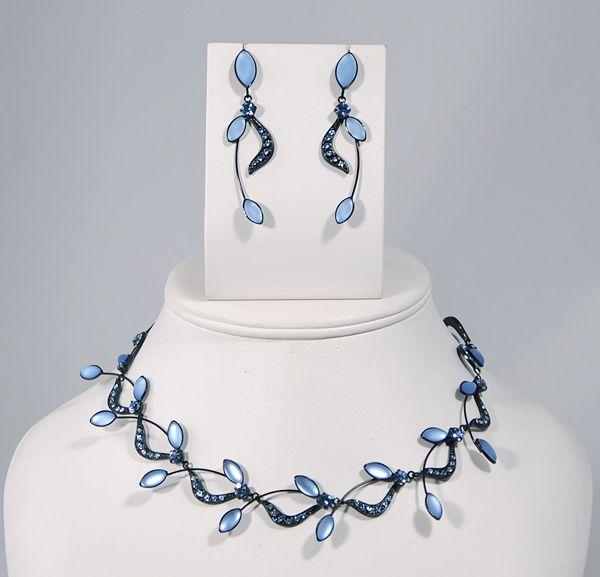 """""""Lady in blue"""" kristály ékszergarnitúra"""