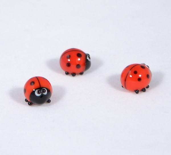 Katicabogár - miniatűr üvegfigura