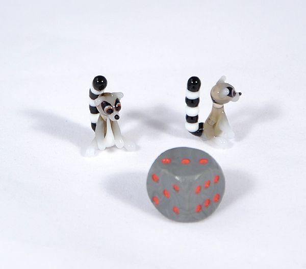 Lemúr - miniatűr üvegfigura