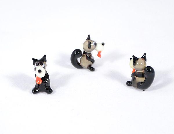 Farkas - miniatűr üvegfigura