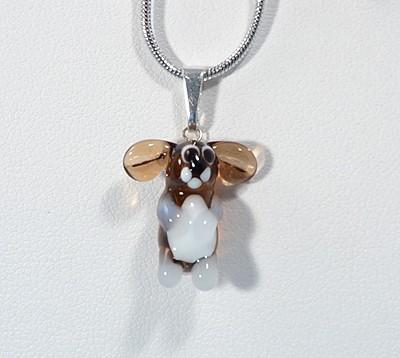 Nyúl - miniatűr üvegmedál