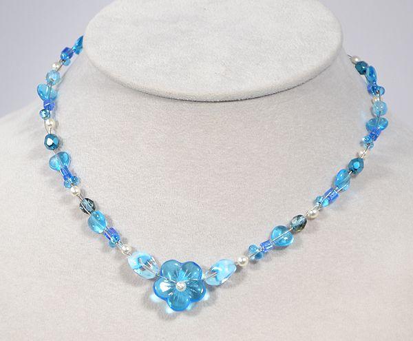 """""""Florale"""" nyaklánc - kék"""