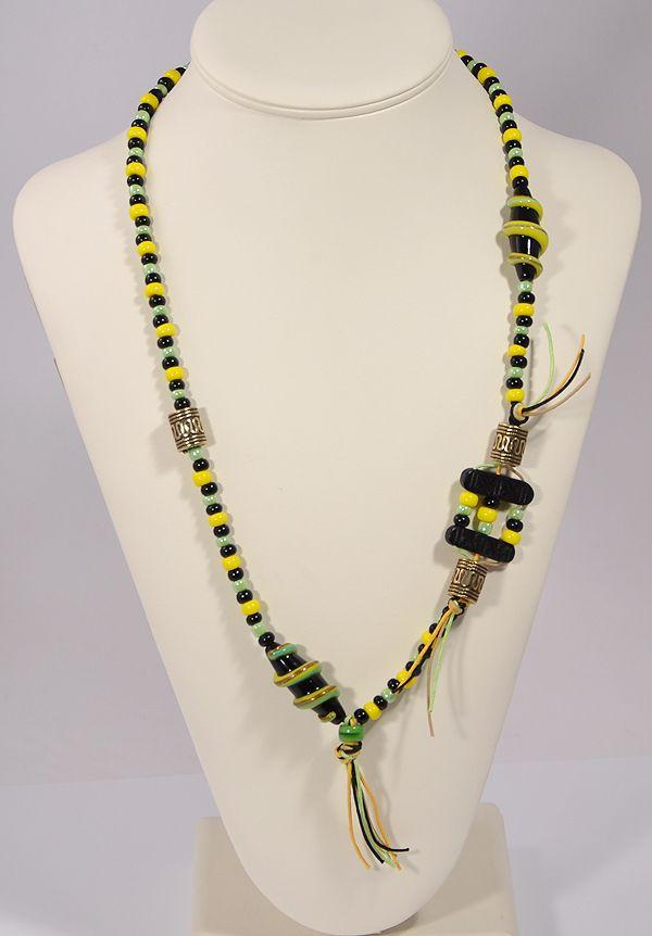 """""""Elképesztő"""" nyaklánc - sárga, zöld"""