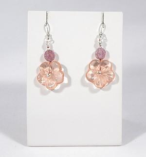 """""""Florale"""" fülbevaló - rózsaszín"""