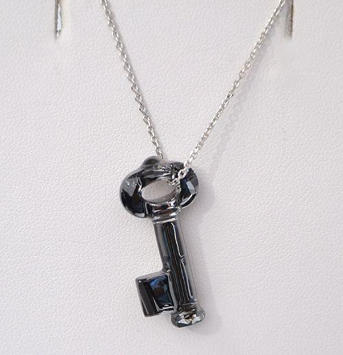 """Emlékek kristálykulcsa"" - crystal silver night (Swarovski kristály)"
