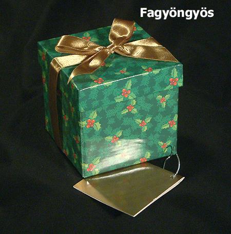 Karácsonyi ajándékdoboz - fagyöngyös