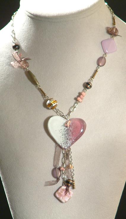 Romantika nyaklánc - rózsaszín