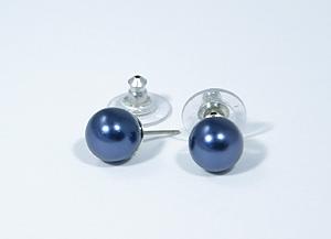 """""""Gömböcske"""" fülbevaló - kék"""