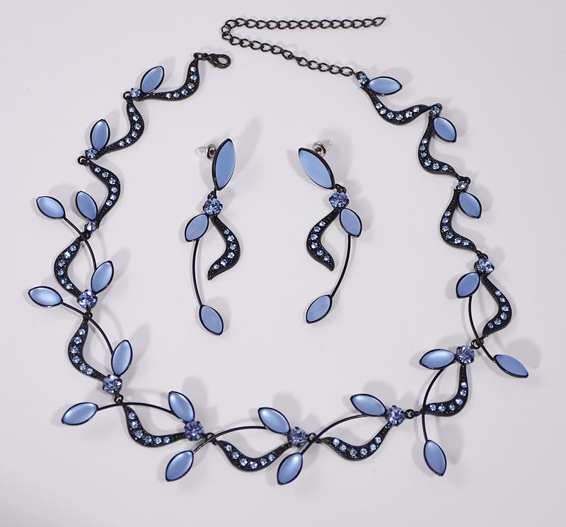 Lady ékszerszett - matt kék