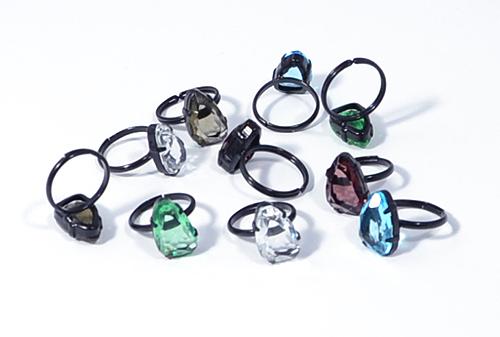 Gyűrű kavicsszerű kristályból 2.
