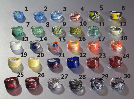 Egyedi üveg karikagyűrűk 1.