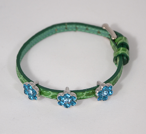 """Mirabell"" karkötő - kék-zöld, Swarovski kristály"
