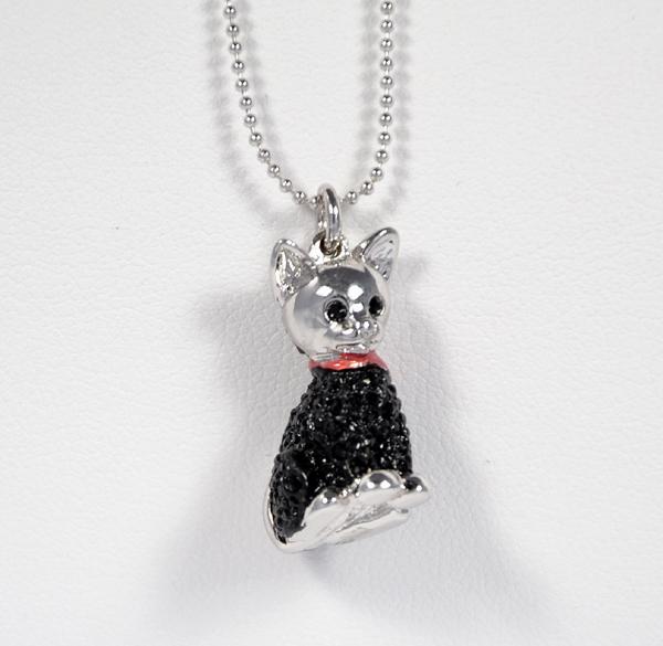 """""""Fekete macska"""" kristálymedál"""
