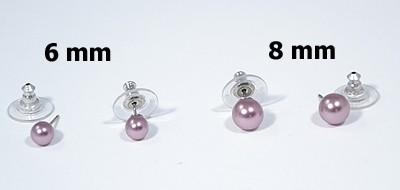 Gömböcske fülbevaló, lila - 1000 Ft