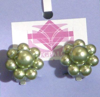 Virág fülklipsz, zöld - 1800
