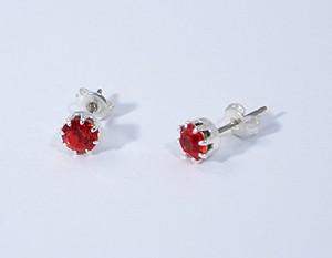 Pötty fülbevaló, piros - 750