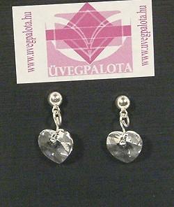 Szeretlek fülbevaló - kristály, 1250