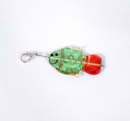 Ficánka egyedi üvegfüggő, zöld - 2000 Ft