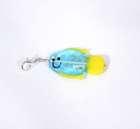 Ficánka egyedi üvegfüggő, kék - 2000 Ft