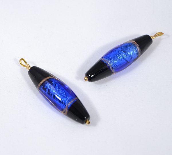 Északi fény üvegmedál, kék - 1500 Ft