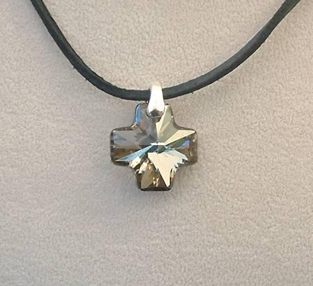 Máltai medál (Swarovski), metalic silver - 2000 Ft