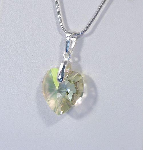 Szeretlek medál (Swari), glittering green  2000 Ft
