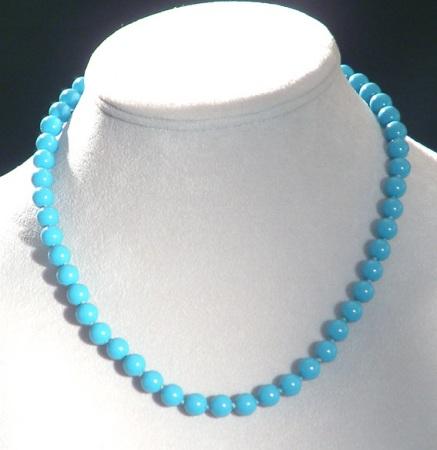 Gyöngysor nyaklánc, kék - 2500 Ft