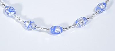 Ezüst cukorka nyaklánc, kék - 3500 Ft