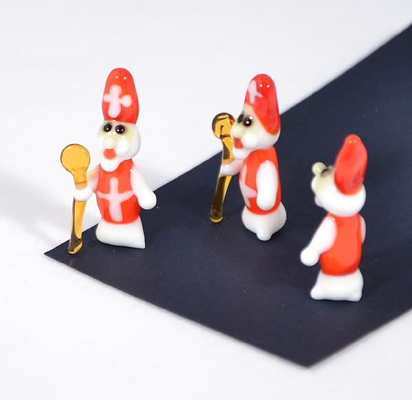 Mikulás miniatűr üvegfigura - 1000 Ft
