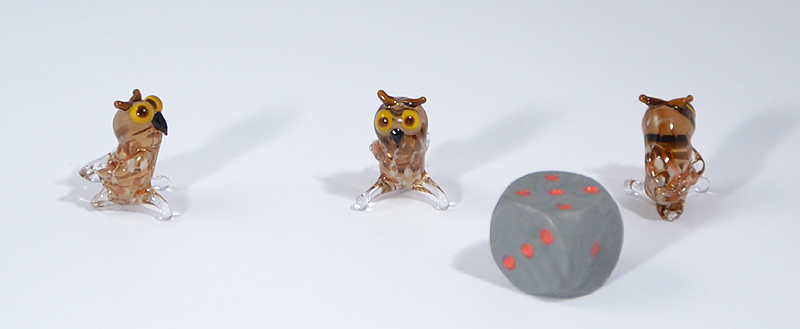 Bagoly miniatűr üvegfigura - 1000 Ft