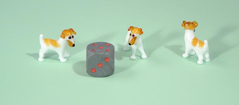 Jack Russel terrier miniatűr üvegfigura - 1000 Ft
