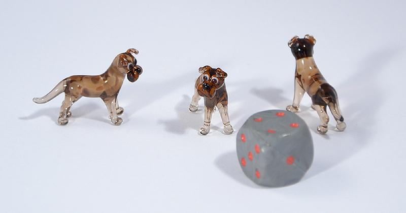 Boxer miniatűr üvegfigura - 1000 Ft
