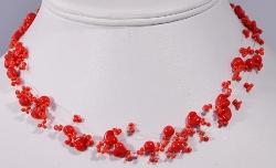 Zefír piros üveggyöngy ékszerek