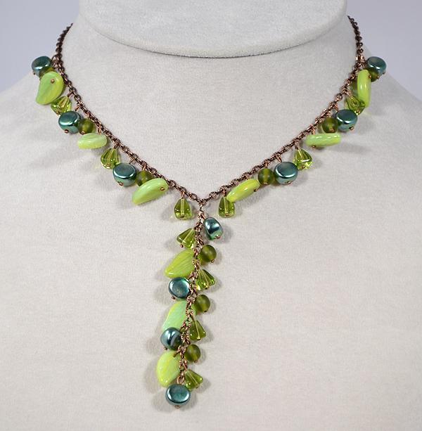 csingiling nyaklánc - zöld