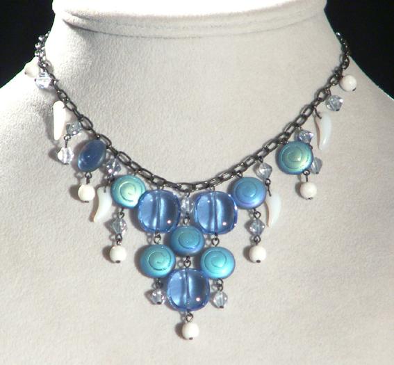Csigabiga nyaklánc - kék
