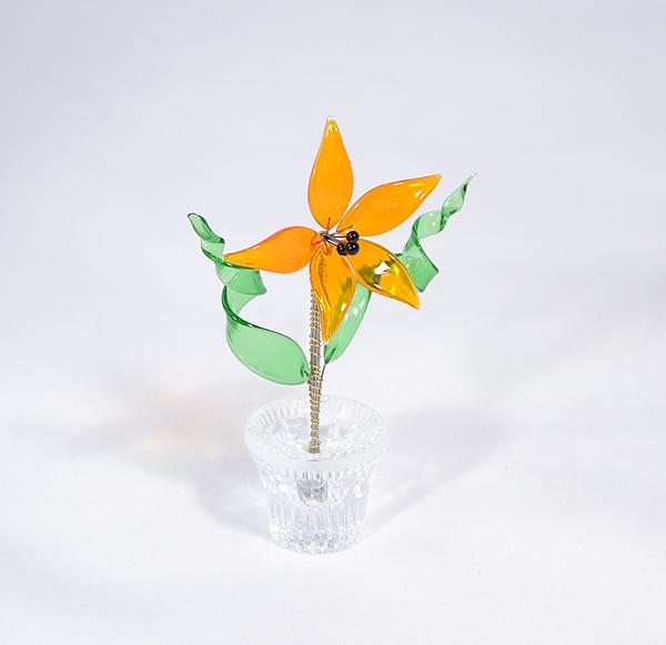 """""""Abigél"""" kicsi üvegvirág narancssárga"""
