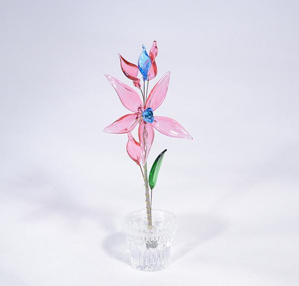 """""""Makrancos Kata""""- kicsi üvegvirág - rózsaszín"""