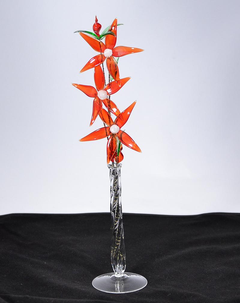 """""""Rozália"""" nagy üvegvirág - vázában"""