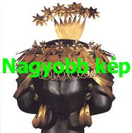 Puabi királyné fejdísze és fülbevalói
