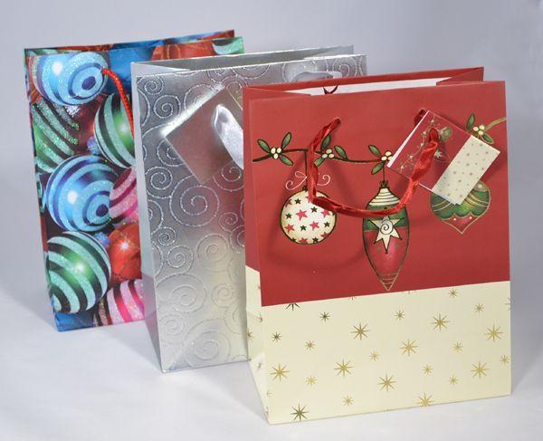 Dísztasak, nagy - karácsonyi, 23x18 cm, többféle