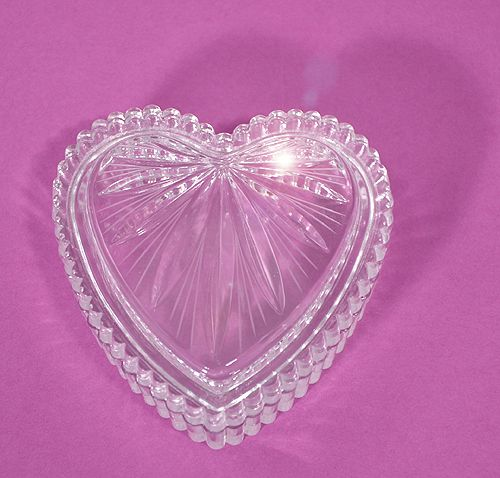 """""""Tiszta szív"""" - kristálydobozka (Ajka Kristály)"""