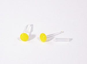 """""""Bubi"""" fémmentes fülbevaló - korong, citromsárga"""