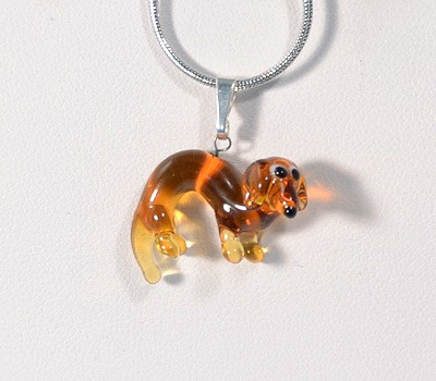 Tacskó - miniatűr üvegmedál