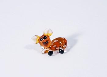Őzike - miniatűr üvegfigura