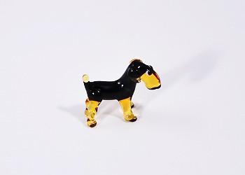Airedale terrier - miniatűr üvegfigura