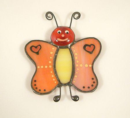 Pillangó hűtőmágnes